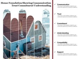 House Foundation Showing Communication Trust Commitment Understanding