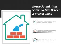 House Foundation Showing Five Bricks