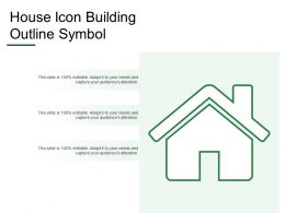House Icon Building Outline Symbol