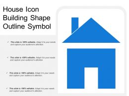 House Icon Building Shape Outline Symbol
