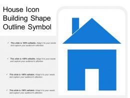 House Icon Building Shape Outline Symbol
