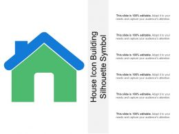 House Icon Building Silhouette Symbol