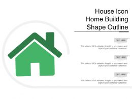 House Icon Home Building Shape Outline