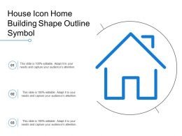 House Icon Home Building Shape Outline Symbol