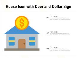 House Icon With Door And Dollar Sign