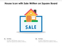 House Icon With Sale Written On Square Board
