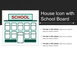 House Icon With School Board