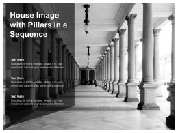 House Image With Pillars In A Sequence