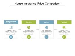 House Insurance Price Comparison Ppt Powerpoint Presentation Pictures Mockup Cpb