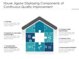 House Jigsaw Displaying Components Of Continuous Quality Improvement