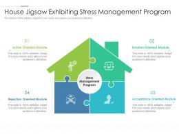House Jigsaw Exhibiting Stress Management Program