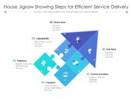 House Jigsaw Showing Steps For Efficient Service Delivery