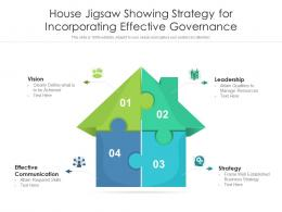 House Jigsaw Showing Strategy For Incorporating Effective Governance