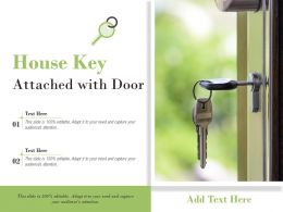 House Key Attached With Door