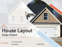 House Layout Design Proposal Powerpoint Presentation Slides