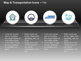 House Location Meter Truck Navigation System Ppt Icons Graphics
