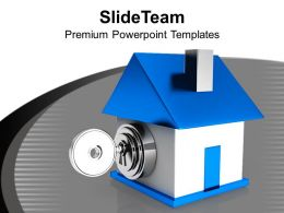 House Locked With Key PowerPoint Templates PPT Themes And Graphics 0213