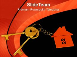 House Locked With Key Security PowerPoint Templates PPT Themes And Graphics 0213
