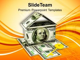House Made By Dollar Estate Insurance PowerPoint Templates PPT Themes And Graphics 0213