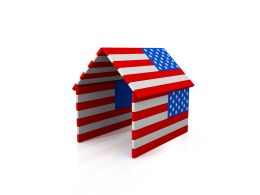 House Made Of Us Flag Stock Photo