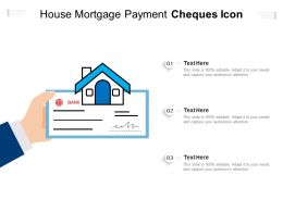 House Mortgage Payment Cheques Icon