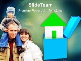 House Out Of Gift Box Family PowerPoint Templates PPT Themes And Graphics 0213