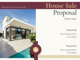 House Sale Proposal Powerpoint Presentation Slides