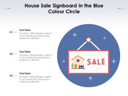 House Sale Signboard In The Blue Colour Circle