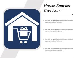 House Supplier Cart Icon