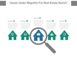 House Under Magnifier For Real Estate Search Powerpoint Slides