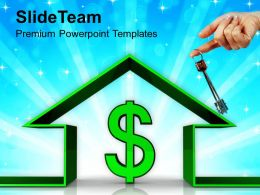 House With Dollar Sign Sale Powerpoint Templates Ppt Themes And Graphics 0113