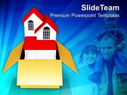 House With Family In Box Relations PowerPoint Templates PPT Themes And Graphics 0213