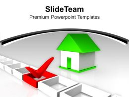 House With Tick Marked Right Choice Investment Powerpoint Templates Ppt Themes And Graphics 0113