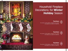 Household Fireplace Decorations For Winter Holiday Season