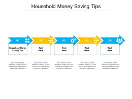 Household Money Saving Tips Ppt Powerpoint Presentation Pictures Icon Cpb