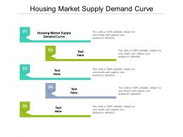 Housing Market Supply Demand Curve Ppt Powerpoint Presentation Slides Graphics Pictures Cpb