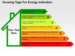 Housing Tags For Energy Indication Flat Powerpoint Design