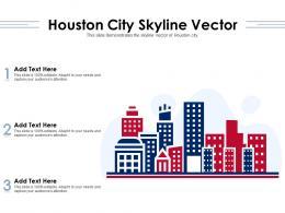 Houston City Skyline Vector Powerpoint Presentation PPT Template