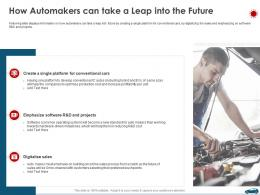 How Automakers Can Take A Leap Into The Future Ppt Pictures