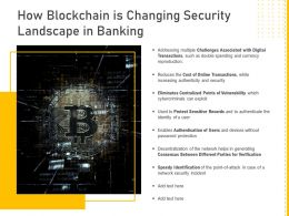 How Blockchain Is Changing Security Landscape In Banking