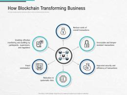How Blockchain Transforming Business Blockchain Architecture Design Use Cases Ppt Professional