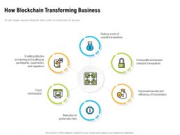 How Blockchain Transforming Business Overall Transactions Ppt Powerpoint Gallery