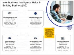 How Business Intelligence Helps In Building Business Bottlenecks Ppt Powerpoint Icons