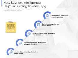 How Business Intelligence Helps In Building Business Knowledge Ppt Powerpoint Presentation Professional
