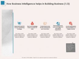 How Business Intelligence Helps In Building Business Ppt Powerpoint Layout