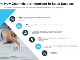 How Channels Are Important To Sales Success Necessary Ppt Powerpoint Presentation Introduction