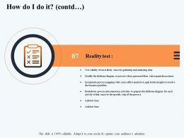 How Do I Do It Contd Test M2904 Ppt Powerpoint Presentation Slides Microsoft