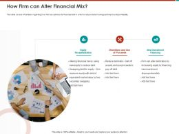 How Firm Can Alter Financial Mix Pay Off Ppt Powerpoint Presentation Icon Summary