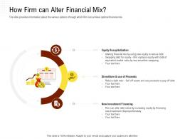 How Firm Can Alter Financial Mix Rethinking Capital Structure Decision Ppt Powerpoint