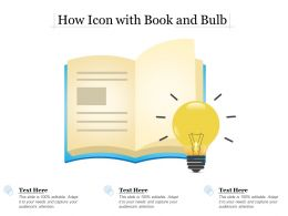 How Icon With Book And Bulb